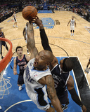 Atlanta Hawks v Orlando Magic - Game Five, Orlando, FL - April 26: Quentin Richardson and Josh Smit Photographic Print