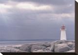 Leuchtturm, Nova Scotia Bedruckte aufgespannte Leinwand von Art Wolfe