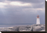 Lighthouse, Nova Scotia Stretched Canvas Print by Art Wolfe