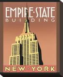Empire State Building Opspændt lærredstryk af Brian James