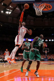 Boston Celtics v New York Knicks - Game Four, New York, NY - April 24: Amar'e Stoudemire and Kevin  Photographic Print