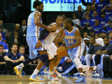 Denver Nuggets v Oklahoma City Thunder - Game Two, Oklahoma City, OK - April 20: Nene Hilario, Raym Photographic Print