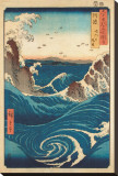 Rough Sea at Naruto in Awa Province Stretched Canvas Print by Ando Hiroshige