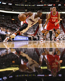 Philadelphia 76ers v Miami Heat - Game Two, Miami, FL - April 18: Dwyane Wade and Evan Turner Photographic Print