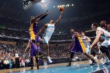 Los Angeles Lakers v New Orleans Hornets - Game Four, New Orleans, LA - April 24: Trevor Ariza and  Photographic Print