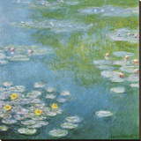 Nympheas at Giverny Stretched Canvas Print by Claude Monet
