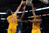 New Orleans Hornets v Los Angeles Lakers - Game Five, Los Angeles, CA - April 26: Carl Landry, Pau  Photographic Print