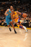 New Orleans Hornets v Los Angeles Lakers - Game Two, Los Angeles, CA - April 20: Kobe Bryant and Tr Photographic Print