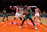Boston Celtics v New York Knicks - Game Four, New York, NY - April 24: Paul Pierce, Amar'e Stoudemi Photographic Print
