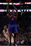 New York Knicks v Boston Celtics - Game One, Boston, MA - April 17: Chauncey Billups and Rajon Rond Photographic Print