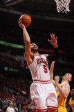 Indiana Pacers v Chicago Bulls - Game Five, Chicago, IL- April 26: Carlos Boozer and Tyler Hansbrou Photographic Print