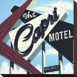 Capri Motel Sträckt kanvastryck av Anthony Ross
