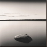 Solo Floating on Ottawa River, Study, no. 3 Stretched Canvas Print by Andrew Ren
