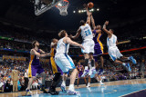 Los Angeles Lakers v New Orleans Hornets - Game Four, New Orleans, LA - April 24: Kobe Bryant, Trev Photographic Print