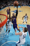 Los Angeles Lakers v New Orleans Hornets - Game Four, New Orleans, LA - April 24: Lamar Odom and Ca Photographic Print