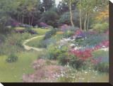 The End of the Garden Stretched Canvas Print by Allan Myndzak