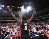 Miami Heat v Philadelphia 76ers - Game Four, Philadelphia, PA - April 24: LeBron James Photographie
