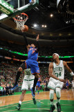 New York Knicks v Boston Celtics - Game One, Boston, MA - April 17: Carmelo Anthony and Paul Pierce Photographic Print
