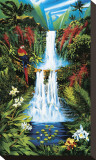 Mirror Falls Reproducción en lienzo de la lámina por  Croci