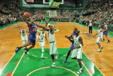 New York Knicks v Boston Celtics - Game Two, Boston, MA - April 19: Toney Douglas and Jermaine O'Ne Photographic Print