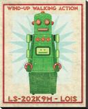 Lois Box Art Robot Stretched Canvas Print by John Golden