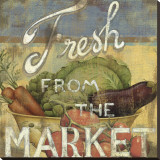 From the Market IV Stretched Canvas Print by Daphne Brissonnet