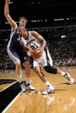 Memphis Grizzlies v San Antonio Spurs - Game One, San Antonio, TX - April 17: Tim Duncan and Marc G Photographic Print