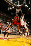 Philadelphia 76ers v Miami Heat - Game One, Miami, FL - April 18: Andre Iguodala and Joel Anthony Photographic Print