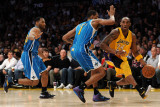 New Orleans Hornets v Los Angeles Lakers - Game Five, Los Angeles, CA - April 26: Kobe Bryant, Trev Photographic Print