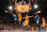 New Orleans Hornets v Los Angeles Lakers - Game Five, Los Angeles, CA - April 26: Chris Paul and An Photographic Print