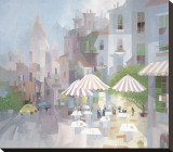 Place du Tertre Stretched Canvas Print by Albert Swayhoover