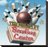 Ten Pin Alley Bowling Center Impressão em tela esticada por Anthony Ross
