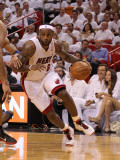 Philadelphia 76ers v Miami Heat - Game Two, Miami, FL - April 18: LeBron James Photographie