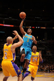New Orleans Hornets v Los Angeles Lakers - Game Two, Los Angeles, CA - April 20: Chris Paul and Der Fotografisk tryk
