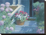 Front Steps Stretched Canvas Print by Allan Myndzak