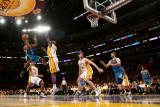 New Orleans Hornets v Los Angeles Lakers - Game One, Los Angeles, CA - April 17: Chris Paul, Lamar  Photographic Print