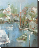 Cape Harbor Stretched Canvas Print by Albert Swayhoover