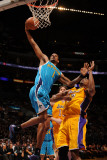 New Orleans Hornets v Los Angeles Lakers - Game Five, Los Angeles, CA - April 26: Trevor Ariza and  Photographic Print