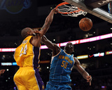 New Orleans Hornets v Los Angeles Lakers - Game Five, Los Angeles, CA - April 26: Kobe Bryant and E Photographic Print