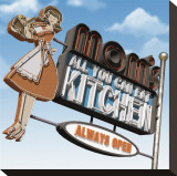 Mom's All-You-Can-Eat Kitchen Stretched Canvas Print by Anthony Ross