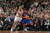 New York Knicks v Boston Celtics - Game Two, Boston, MA - April 19: Carmelo Anthony and Ray Allen Photographic Print