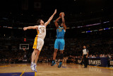 New Orleans Hornets v Los Angeles Lakers - Game One, Los Angeles, CA - April 17: Carl Landry and Pa Photographic Print