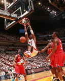 Philadelphia 76ers v Miami Heat - Game Two, Miami, FL - April 18: Chris Bosh and Elton Brand Photographic Print