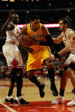 Indiana Pacers v Chicago Bulls - Game Five, Chicago, IL - April 26: Danny Granger, Loul Deng and Jo Photographic Print