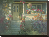 Sunlit Porch Stretched Canvas Print by Allan Myndzak