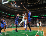 New York Knicks v Boston Celtics - Game Two, Boston, MA - April 19: Rajon Rondo, Amar'e Stoudemire  Photo