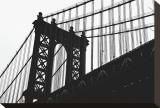 Manhattan Bridge Silhouette Toile tendue sur châssis par Erin Clark