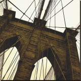 Brooklyn Bridge II (sepia) (detail) Reproduction transférée sur toile par Erin Clark