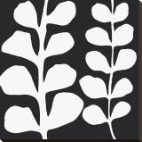 Maidenhair (white on black) Reproduction transférée sur toile par Denise Duplock