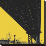 Yellow Underpass Stretched Canvas Print by Erin Clark